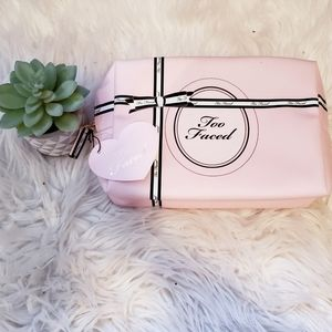 NWT Two Faced Baby Pink Makeup Bag